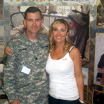 Lee Ann Womack with Colonel Tim Sughre in Italy - 2006