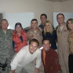 Michael Hitchcock, Dave Price, Karri Turner, General Burt Field, Michael McDonald, Alex K. Horner, Colonel Willie Brandt, and Judy Seale in Iraq in 2007