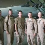 D.B. Sweeney and General Burt Field in Iraq