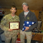 Sean Arnts and Darryl Worley in Afghanistan in 2012