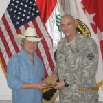 Mark Chesnutt and General Ray Odiero in Iraq in 2010