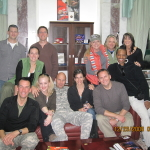 Dave Price, Wendi McLendon,  General Anderson, Michaela Watkins, Michael Hitchcock, Paige Kendig, Jordan Black, Shawn Meyer, Tim Bagley, Karri Turner, John Adam Murph and Judy Seale in Iraq in 2009