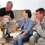 Wounded Heros SPC Joe Bowser (U.S. Army Retired) and SSGT Scott Lilley (USAF Retired) with GAC TV's Nan Kelley