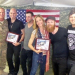 Vertical Horizon and Christine Moore in Afghanistan 2014